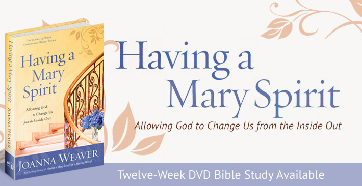 Everything you need to host a Bible study around Joanna Weaver's best-selling book, Having a Mary Spirit: Allowing God to Change Us from the Inside Out. Learn more at www.HavingaMarySpirit.com