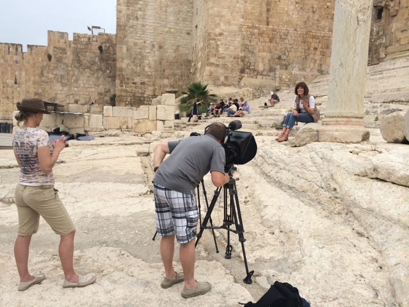 Israel - Filming at Temple Steps