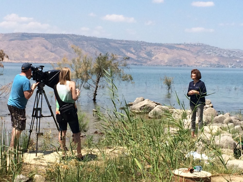 Filming by Sea of Galilee