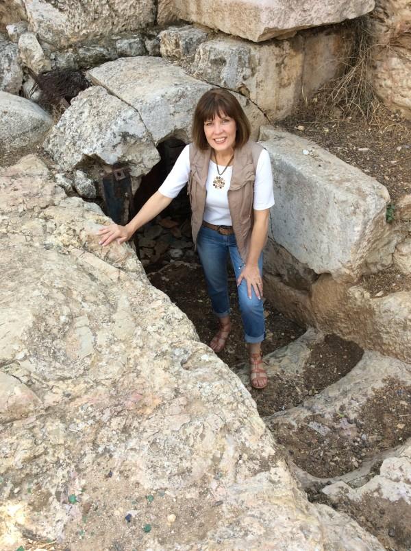 Israel - Joanna at Rolling Stone Tomb 1