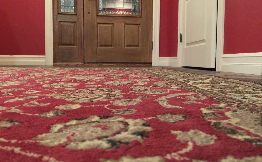 Carpet and door