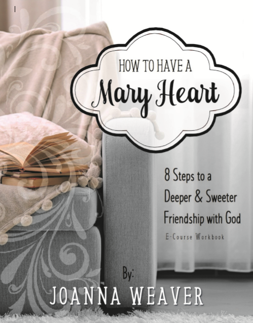 A step-by-step guide to a deeper & sweeter friendship with God... From the best-selling author of Having a Mary Heart in a Martha World. Available December 15, 2016 at www.JoannaWeaverBooks.com/MHEcourse