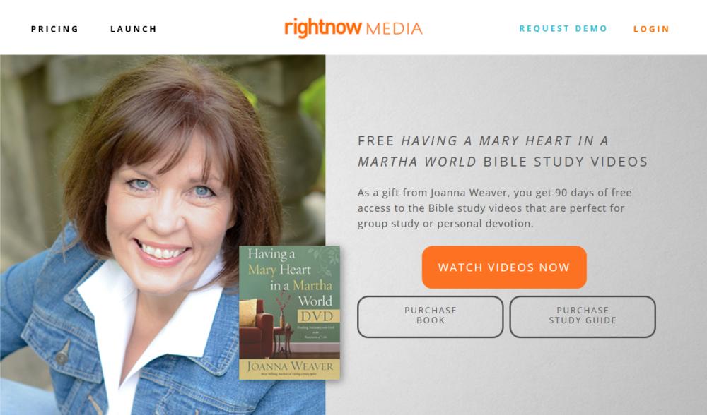 Free Access to Having a Mary Heart DVD Study - Joanna Weaver