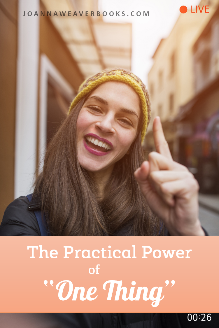 "The Practical Power of ""One Thing"" - Four tips for a simpler way of living and accessing God's power to help."