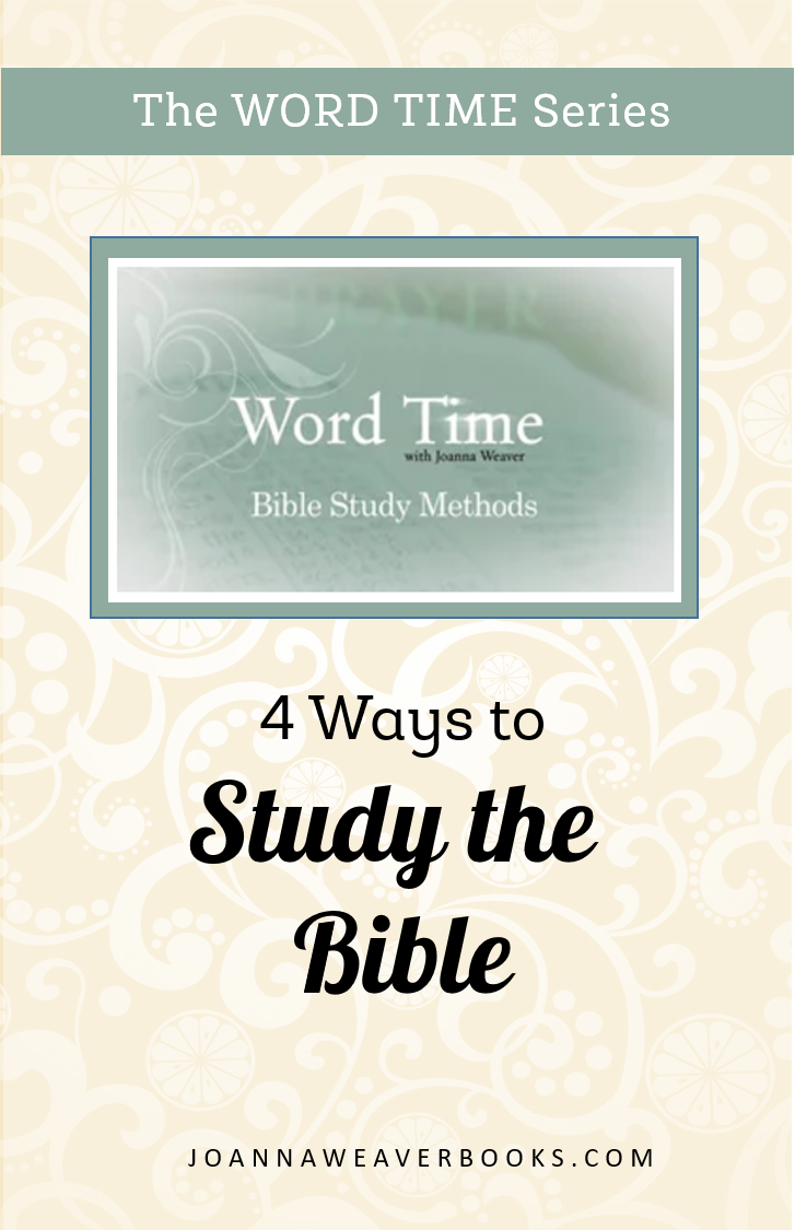 Need tips to help you study the Bible? Check out this Word Time video featuring four ways to deepen your time in God's Word. www.JoannaWeaverBooks.com