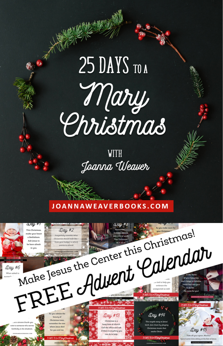 Keep Jesus at the center of your Christmas this year! Check out this new approach to advent...25 daily tips from Joanna Weaver, best-selling author of Having a Mary Heart in a Martha World. Learn more at bit.ly/MaryChristmas25