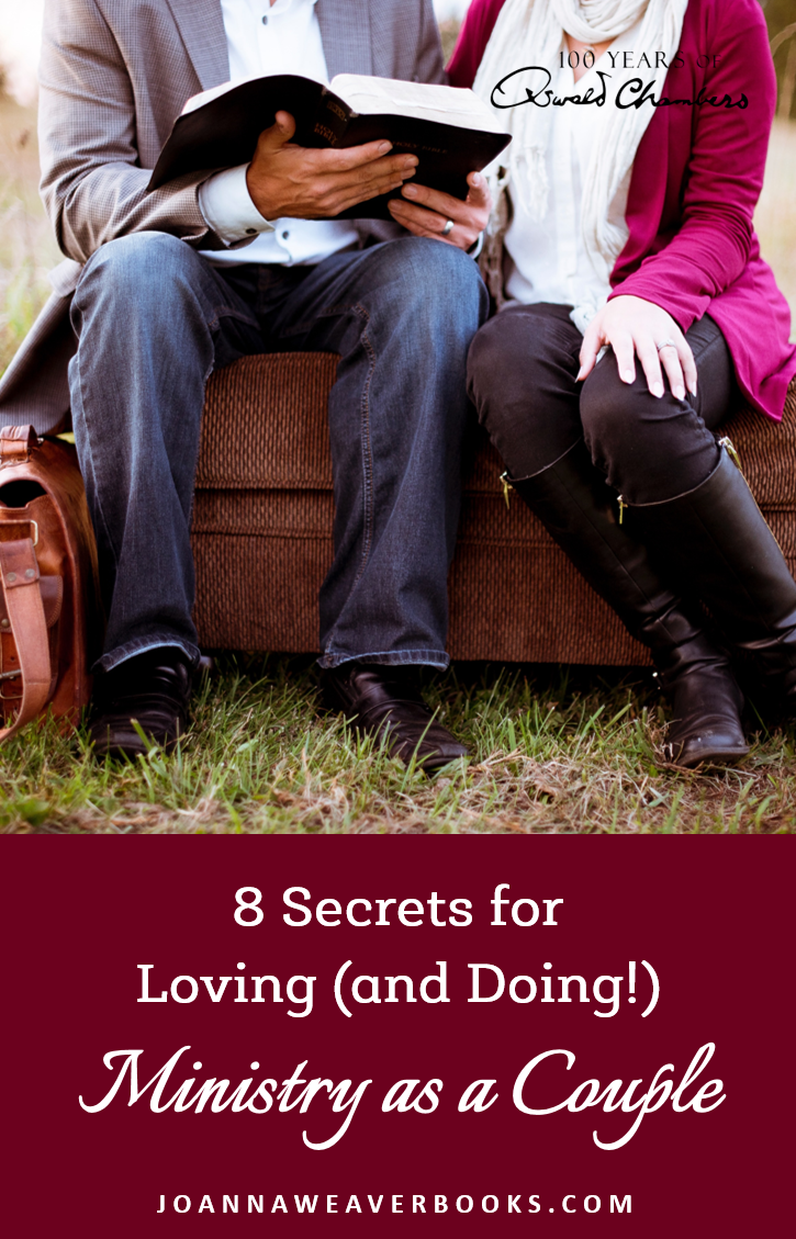 "Learning how to do ministry as a couple can be challenging. Check out these ""8 Secrets"" I see in Oswald and Biddy Chambers' lives and ministry. www.JoannaWeaverBooks.com"