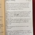 Journal entry from the At the Feet of Jesus 2019 Bible Reading Journal. Learn more at www.JoannaWeaverBooks.com
