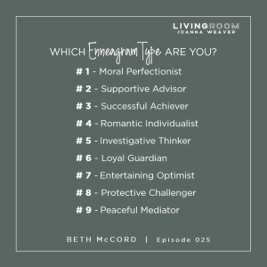 9 Enneagram Types - Beth McCord on The Living Room Podcast